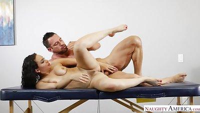 Lewd unfocused Gabriella Paltrova fucking surrounding the massage food