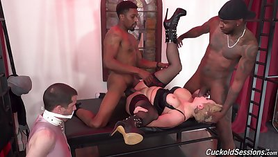 Bit of all right Ryan Keely of course humiliates her cuckold with black bulls
