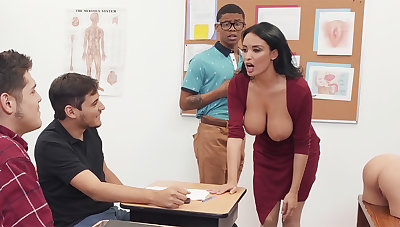 Sumptuous professor screw university doll in be transferred to air BIG BLACK COCK in be transferred to class