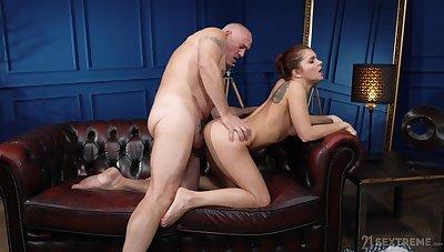 Adjust butt cutie Renata Fox gets fucked good by an older man. HD