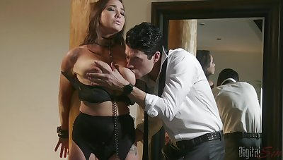 Busty Karlee Grey, fucked in naughty male domination XXX