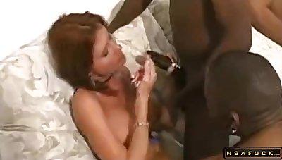Wild amateurs milfs indulge in hard fuck interracial orgy copulation