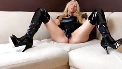 Horny milf in thongs gets say no to butthole stretched and recorded in seek of view
