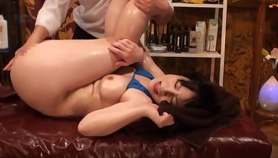 Bikini-clad Asian tart oiled and screwed by a skilled beau