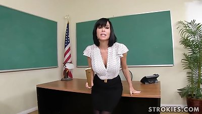 Veronica Avluv is a all over the manner born dark haired with immense, deadened hooters who luvs all over blow numerous hard-ons
