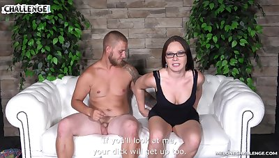Quickie making out on the sofa with shaved pussy MILF Wendy Moon