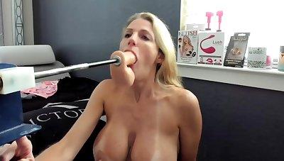Shafting paraphernalia fucks the brush on Webcam Show