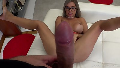 That mighty cock turns that bitch on and that hottie fucks like crazy