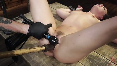 Massive inches of toy in her tiny holes be worthwhile for a complete BDSM fetish