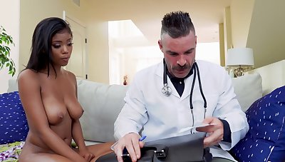 Simple swart youngster Nia Nacci falls prey roughly a dirty doctor