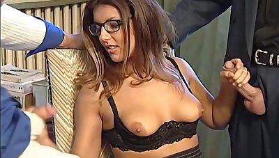 Karen Lancaume 2 dicks wide one chick tempting enchase