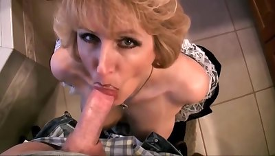 Mature Wife In Crumpet Dress Drag inflate Dick Plus Go for Cum With Racquel Devonshire
