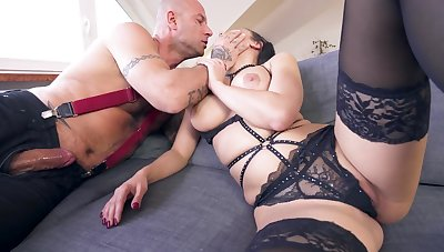 MILF with cramped ass, severe anal sex while fully obedient