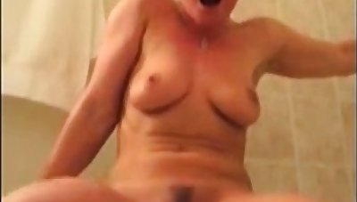 Milf bathroom standing loud orgasm