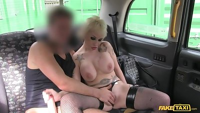 Spanish Pixie Haired MILF With Huge Tits Fucks Cabbie For Street