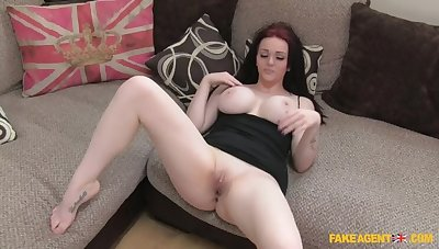 Pale Stunner Gives Agent A Ride On Will not hear of Huge Enhanced Tits