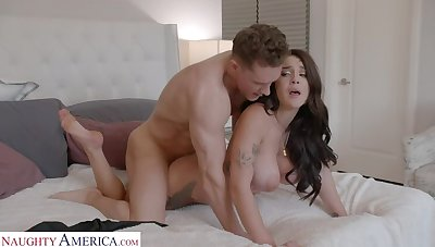 Gabbie Carter gets her way nearly her friend's brother
